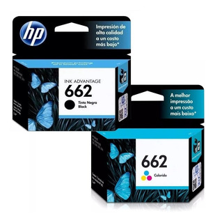 Pack Cartucho Hp 662 Negro + Hp 662 Color