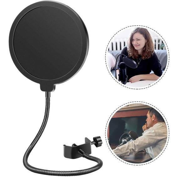 Filtro Pop Flexible Para Micrófono Profesional De Estudio