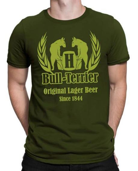 Remera Bull Terrier Hf ® Verde Original 100% Serigrafia
