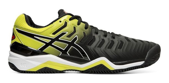 Tênis Asics Gel Resolution 7 Clay Preto E Amarelo
