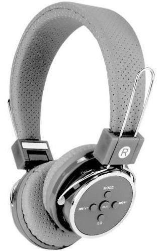 Fone De Ouvido Headphone Bluetooth 3.0 Sd P2 Fm Cinza