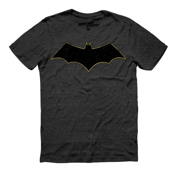 Playera Batman Rebirth Logo Máscara De Látex Dc