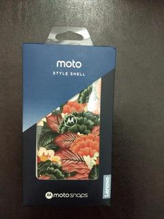 Moto Snap Shell Flores Motorola 2019