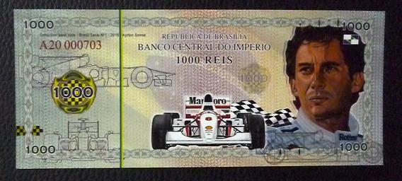 Brasil 1000 Reis 2018 Ayrton Senna Formula 1 Polimero Unc