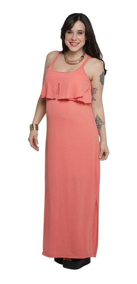 Vestido De Creep Largo - Qué Será? Futura Mamá