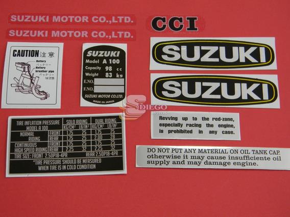 Kit De Adesivos Da Época (réplica) Suzuki A-100 72 A 75