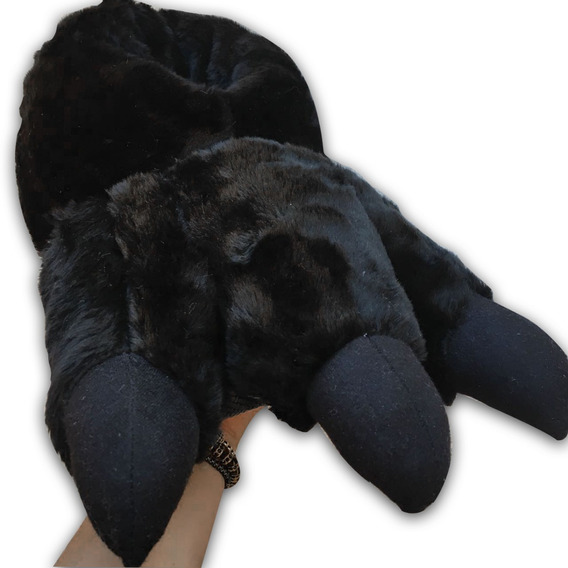 Pantufla Negra Tipo Garras Súper Calientitas