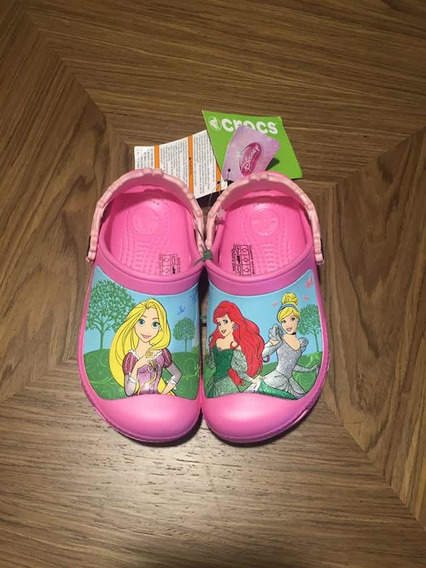 Crocs Princesas Disney Original Novo C12-13 30 Menina Ariel