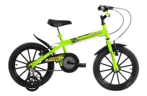 Bicicleta Track & Bikes Dino, Aro 16, Neon