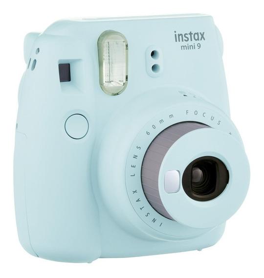 Kit Câmera Instantânea Fujifilm Instax Mini 9 - Azul Aqua Fi