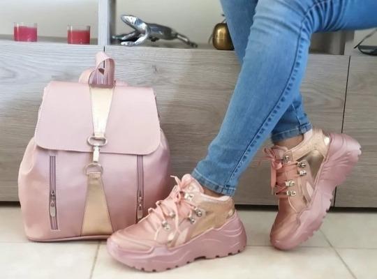 Set Zapatillas Y Boldo Para Dama
