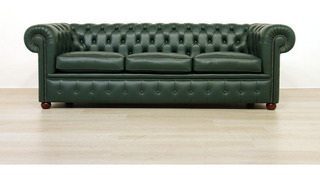 Sillon Chester Sofa Chesterfield 3 Cuerpos 210 Cm Con Stock