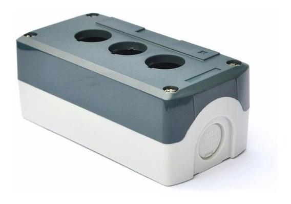 Xb4-d03 ( Xald03 ) Cinza Botoeira Plastica 3 Furos Vazia