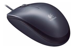 Mouse Usb Optico M90 Preto Logitech Preto 1000dbi