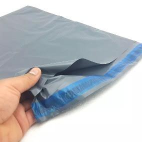 Saco Plástico Embalagem Cinza Reciclado 26x36 26 X 36 500 U