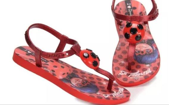 Sandália Ladybug Infantil Ipanema Grendene Original