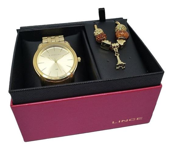 Relógio Feminino Lince Lrg4551l + Pulseira