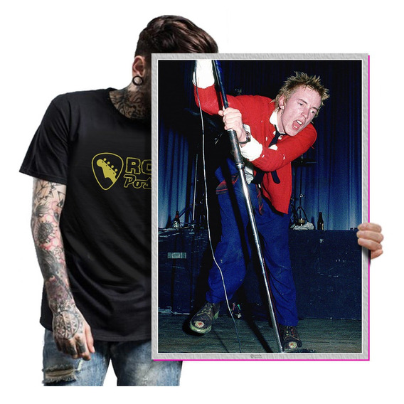 Quadro Placa Sex Pistols Rock Punk Rock Anos 80 T. A2 03