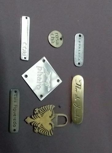 Imagem 1 de 8 de 300/placas Metal Roupa Divulgue S/marca Conquiste+clientes