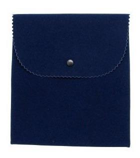 Kit 10 Envelope Azul Veludo Médio Para Colar