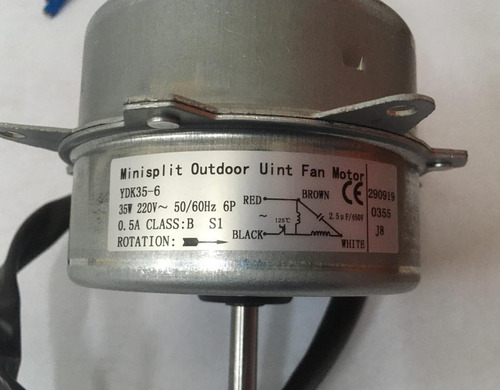 Motor Ventilador Condensador Para Minisplit 35w 220v