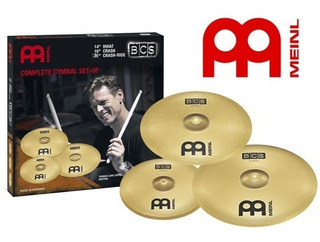 Set De Platillos Meinl Bcs141620 14 Hihat 16 Crash 20 Ride