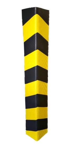 Kit 2 Protetor De Coluna Zebrada Estacionamento 10mm