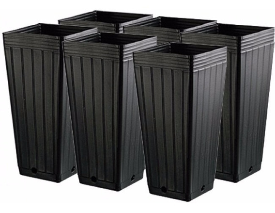 6 Vasos Quadrados 7l Nutriplan Cultivo Indoor Grow Led