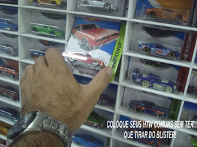 Estante Expositor Hot Wheels No Blister Com Porta Acrilica
