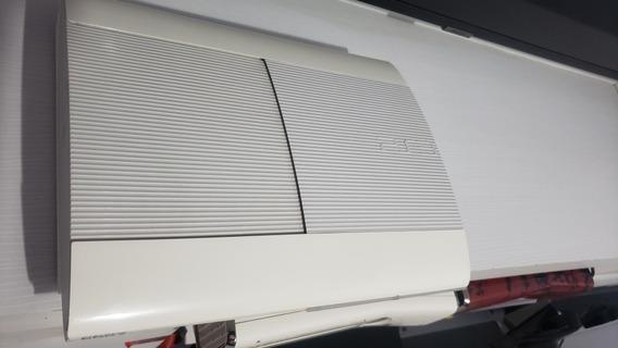 Ps3 Super Slim Branco Edição Limitada Lindo Desbloqueado Hen
