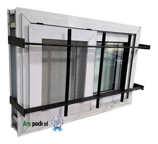 Ventiluz De Aluminio Corredizo 60x40 Con Reja Y Mosquitero