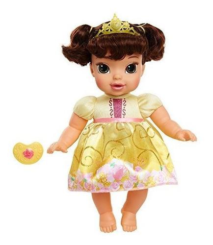 Imagen 1 de 6 de Disney Princess Deluxe Baby Belle Doll Con Chupete De Juguet