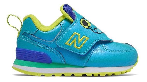 Tênis New Balance Iv574zof 574 Azul Infantil
