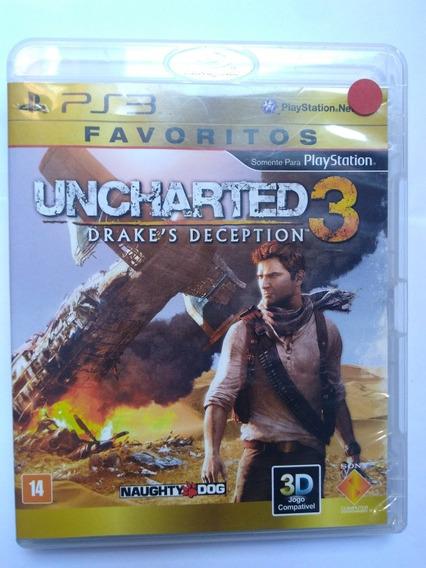 Jogo Uncharted 3 Completo Midia Fisica Ps3 R$49,80