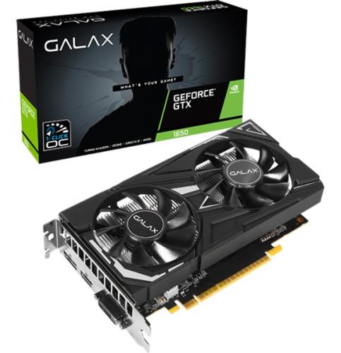 Imagem 1 de 4 de Placa De Vídeo Galax Gtx 1650 Ex 1-click 4gb Gddr6 - Nova