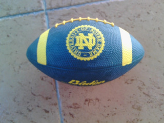 Balon Futbol Americano Notre Dame