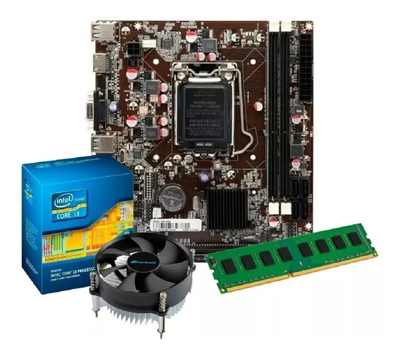 Kit I3 3220 3,3 Ghz + Placa Mãe H61 1155 + 4gb Ddr3 +cooler