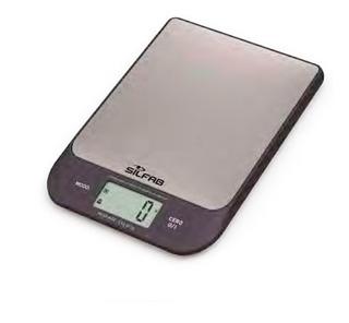 Balanza De Cocina Digital Silfab Bc305 Antihuella Slim