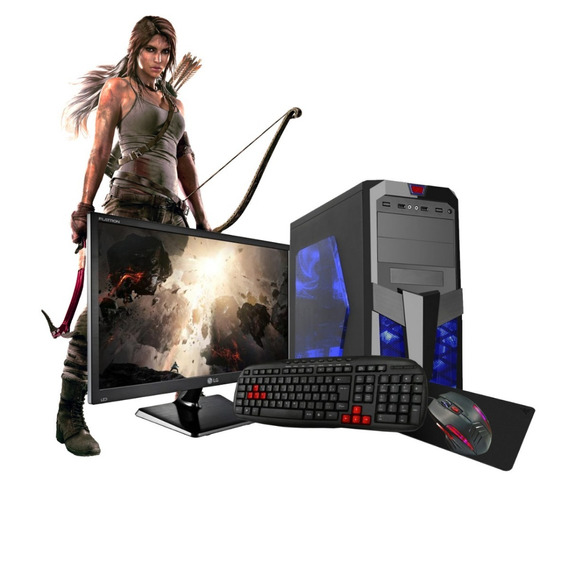 Pc Gamer 7480 A6 3.5ghz 16gb Hd1tb Kit Gamer Monitor Lg 19