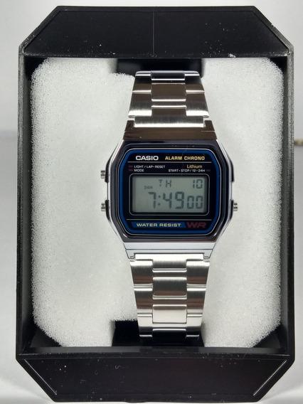 Relógio Casio A158wa-1 Aço Retrô Vintage Original Prata