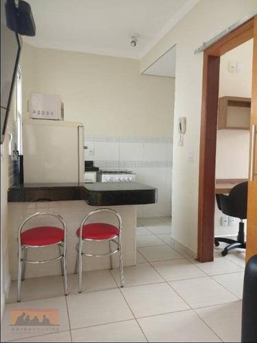 Kitnet Com 1 Dormitório Para Alugar, 26 M² Por R$ 1.500,00/mês - Cidade Universitária - Campinas/sp - Kn1008