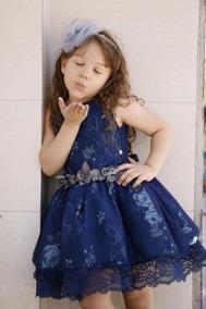 Vestido Infantil De Festa 1 A 8 Anos De Idade