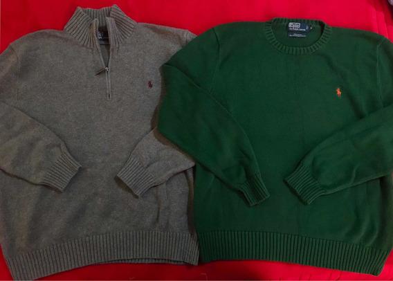 Lote 2 Suéteres Polo Ralph Lauren Originales Talla M/lacoste