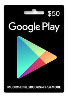 Tarjeta Google Play 50 U$ Usa   Entrega Inmediata- Gamer24hs
