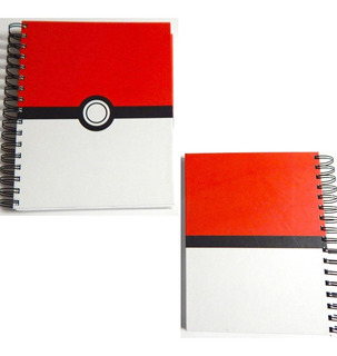 Pokemon Cuaderno Pokebola Pokeball Ash Pasta Dura 180 Hojas