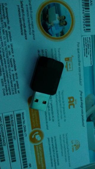 Adaptador Wireless Usb D-link Dual Band Ac 600 Mbps Dwa 171