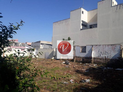 Terreno À Venda, 562 M² Por R$ 1.600.000 - Vila Pires - Santo André/sp - Te0407