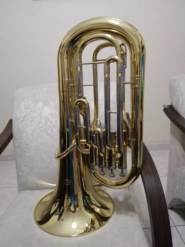 Imagem 1 de 6 de Bombardino Sib Eufonio Jahnke Top 4 Pistos Novo  - Tuba