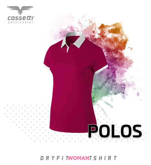 Playera Tipo Polo Cossetti Manga Corta Dry Fit Uniformes