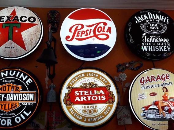 Enfeites De Parede Iluminados Display Retro Vintage Bar